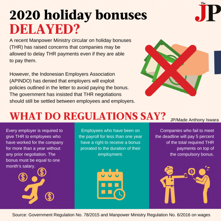 2020 holiday bonuses delayed?
