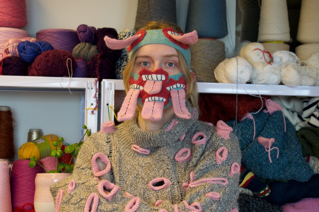 Icelandic designer makes 'scary' masks to encourage distancing