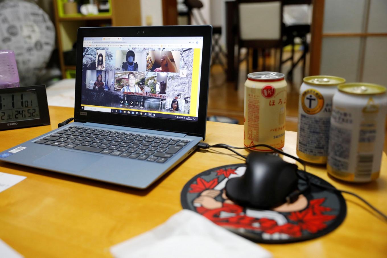 Virtual Cheers! Japan's 'nomikai' goes online for coronavirus time