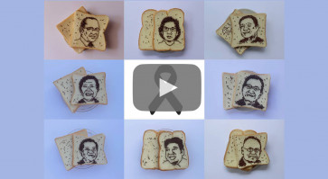 Chocolate sprinkles artwork pays tribute to fallen medical workers