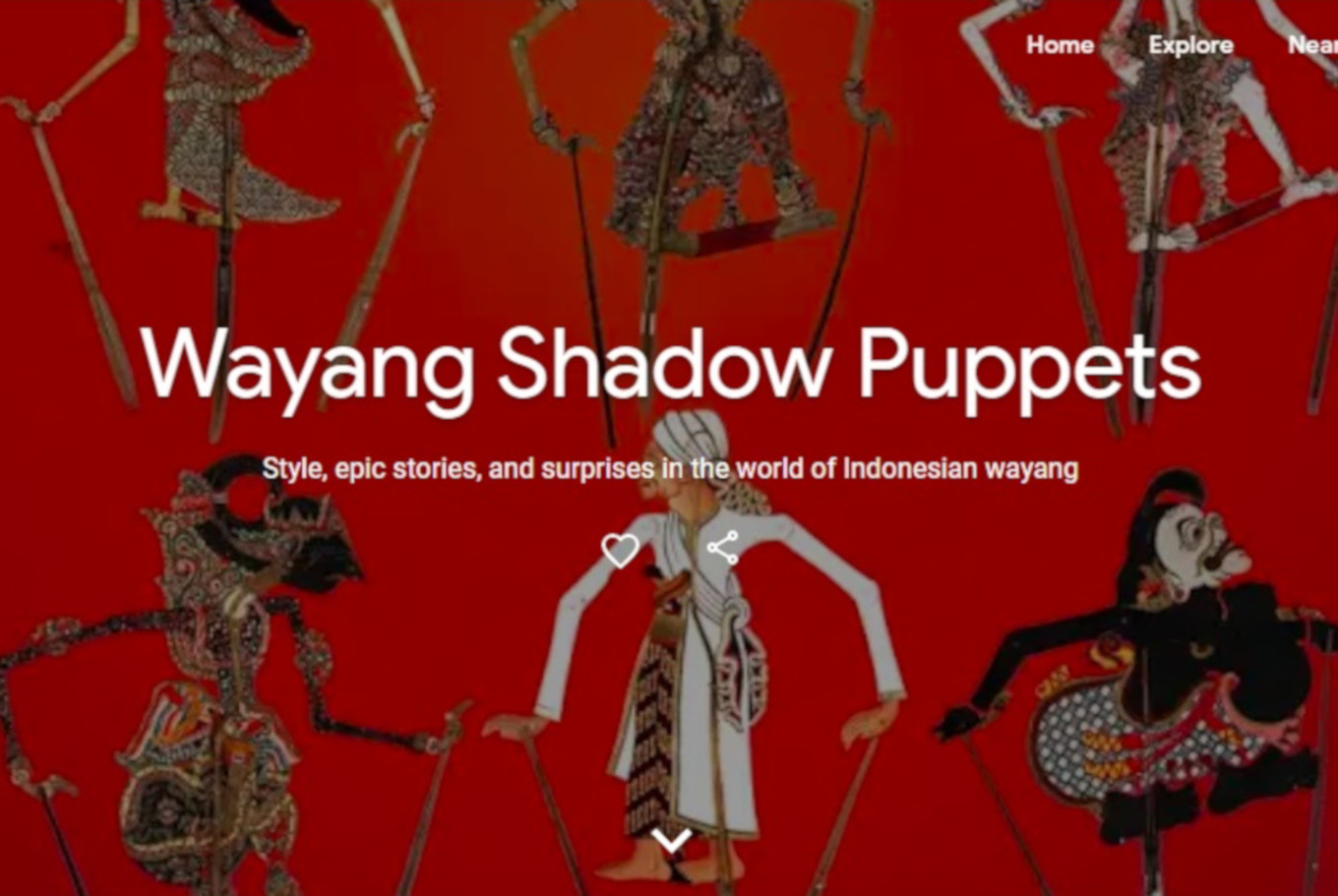 Google Arts & Culture creates special page on Indonesian 'wayang'