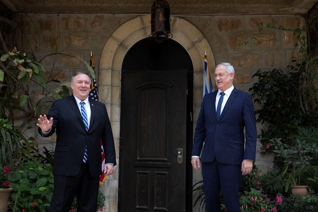 In Israel, Pompeo discusses West Bank and coronavirus with Netanyahu