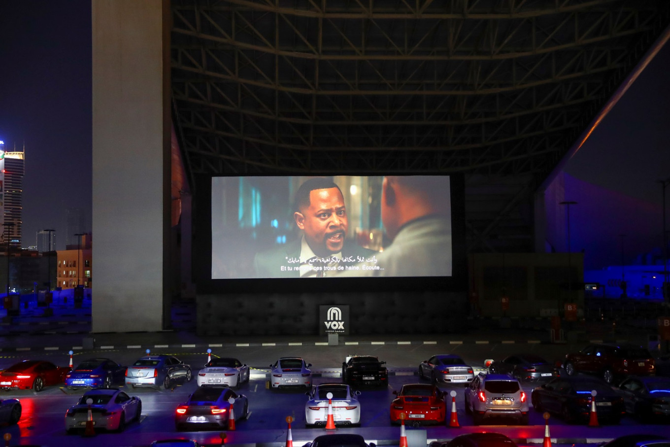 Porsches, popcorn and social distancing at Dubai drive-in cinema