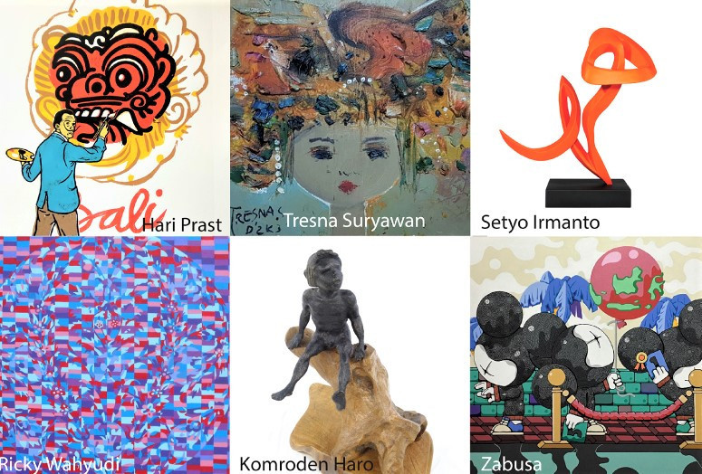 Bid from home: Indonesian artists band together to fight pandemic