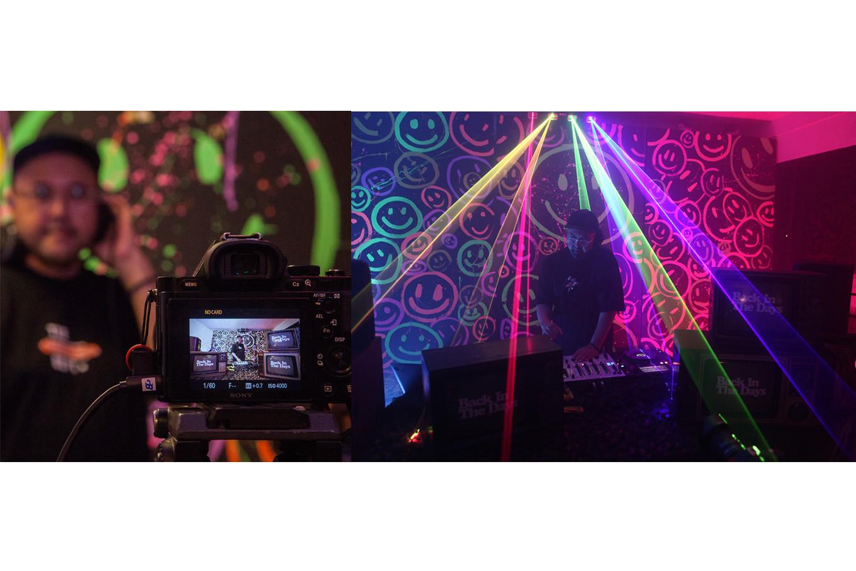 Disc jockey Anton Wirjono performs during a livestreamed concert at his studio in Jakarta on April 18. JP/Seto Wardhana