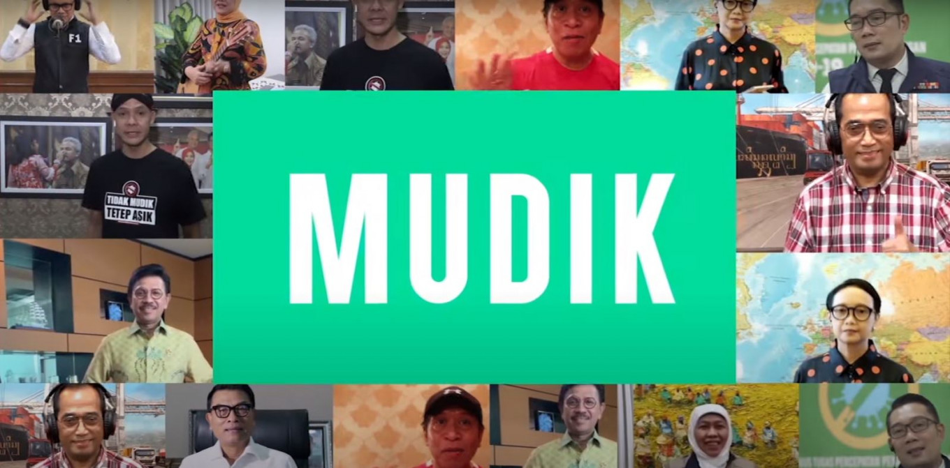 Indonesian netizens fire back at 'no mudik' song featuring ministers, regional heads