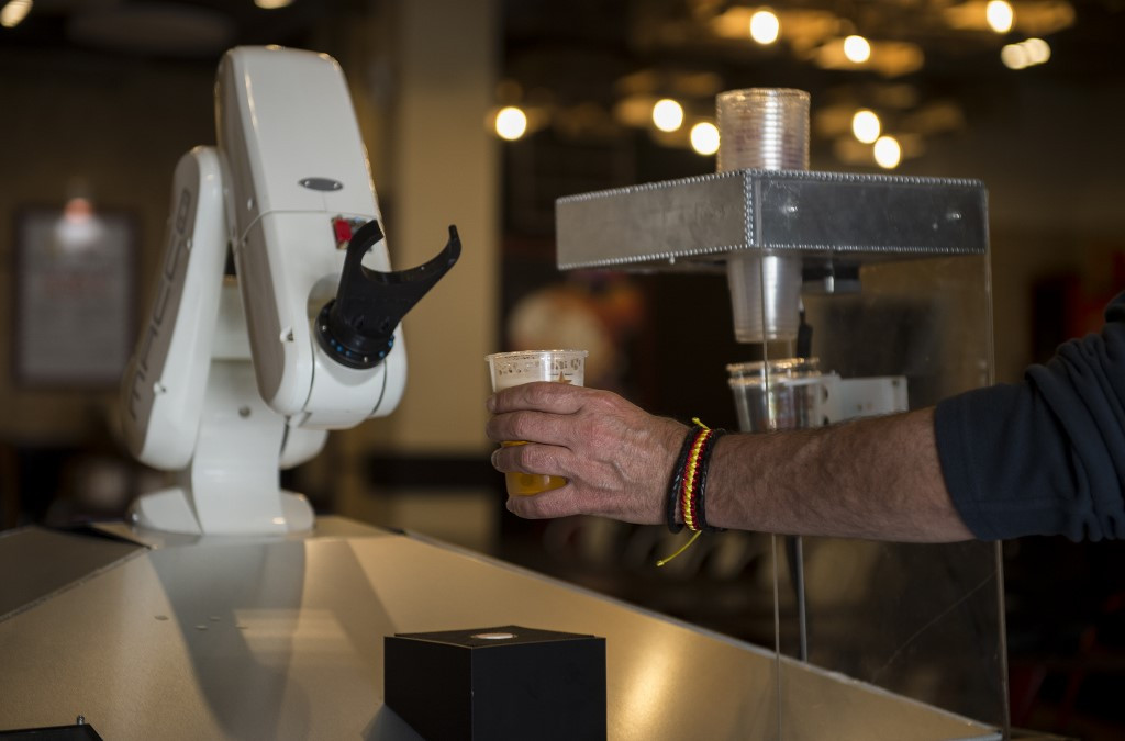 In Spain, bar bot serves up contact-free beers
