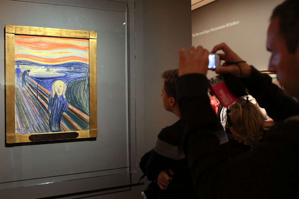 Researchers find that visitors' breath is damaging Edvard Munch's 'The Scream'