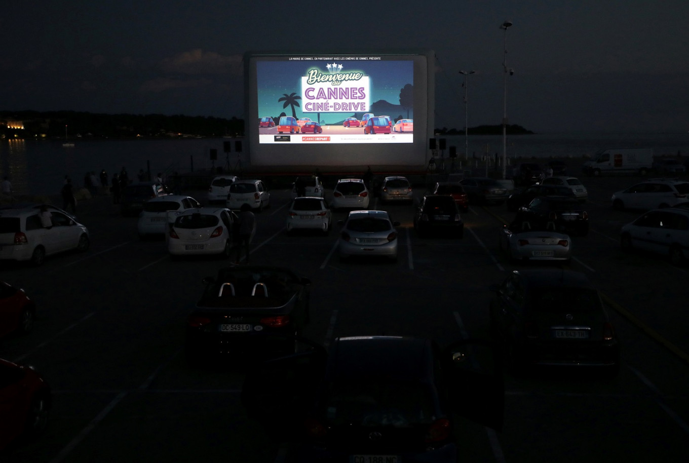 Popcorn, palm trees and face masks: Cannes rolls out drive-in cinema