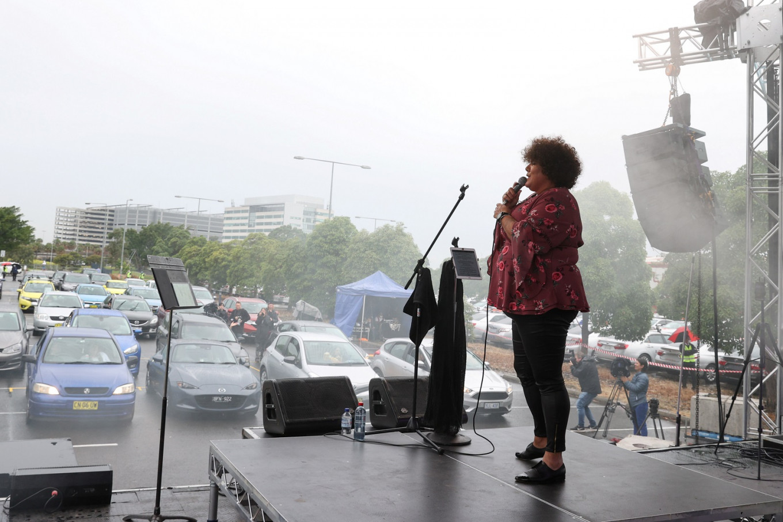 Sydney fans enjoy live concert at COVID-safe drive-in