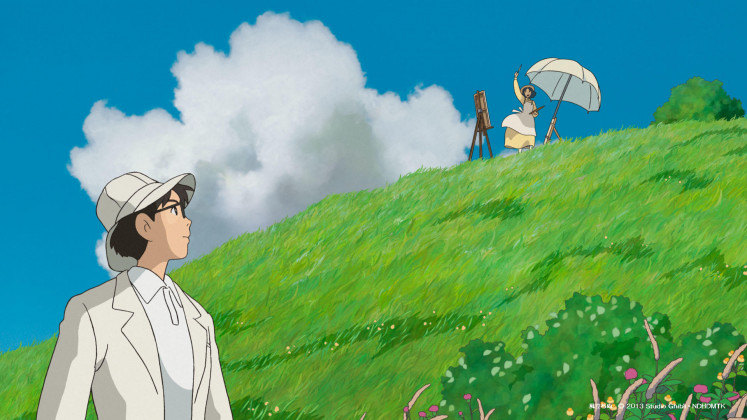 One of Studio Ghibli's free video call background wallpapers.