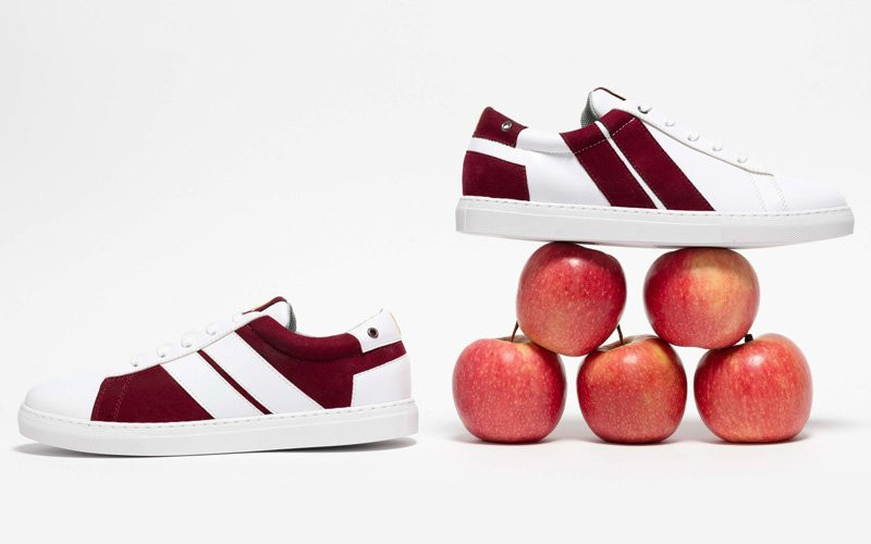 Vegan sneakers in apple leather, recycled materials by CAVAL