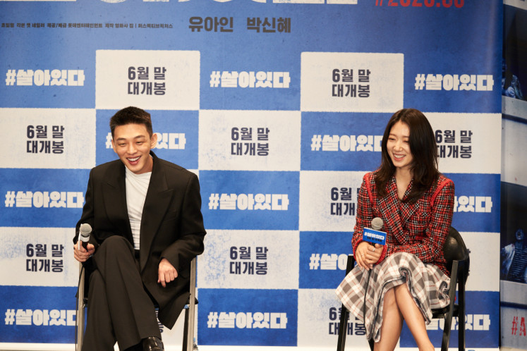 Yoo Ah In Park Shin Hye Team Up In Zombie Horror Film Alive Entertainment The Jakarta Post