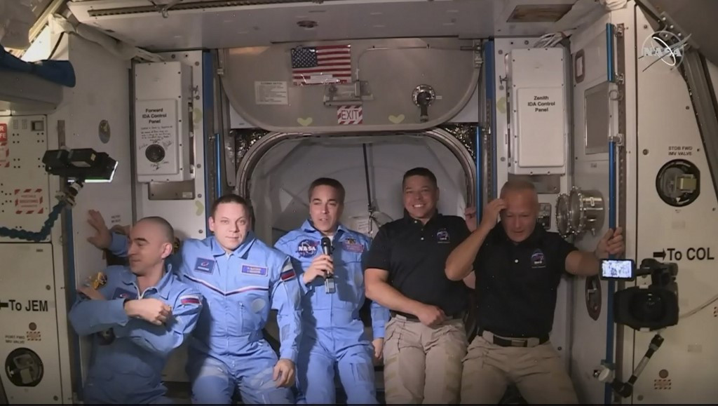 US astronauts enter space station in milestone mission