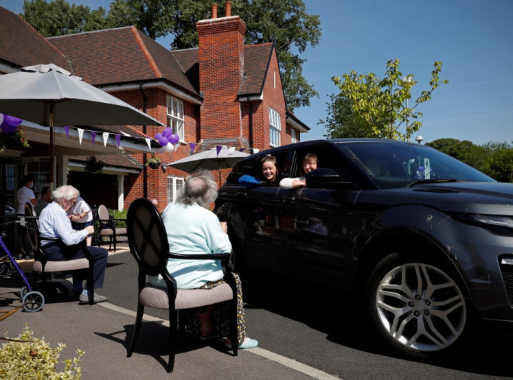 Drive-in UK care home visits for socially distant times