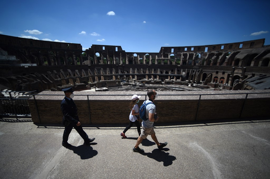 Few tourists, but no gladiators, at Rome's Colosseum