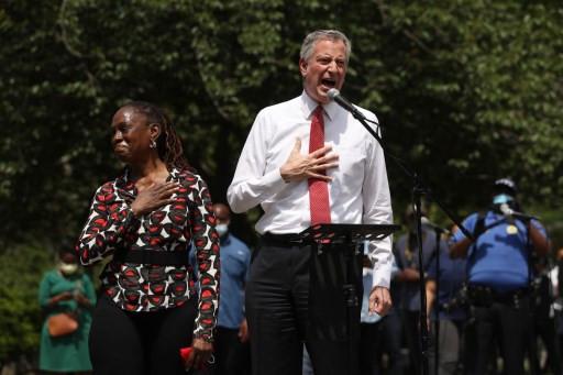 Under-fire New York mayor booed at George Floyd vigil