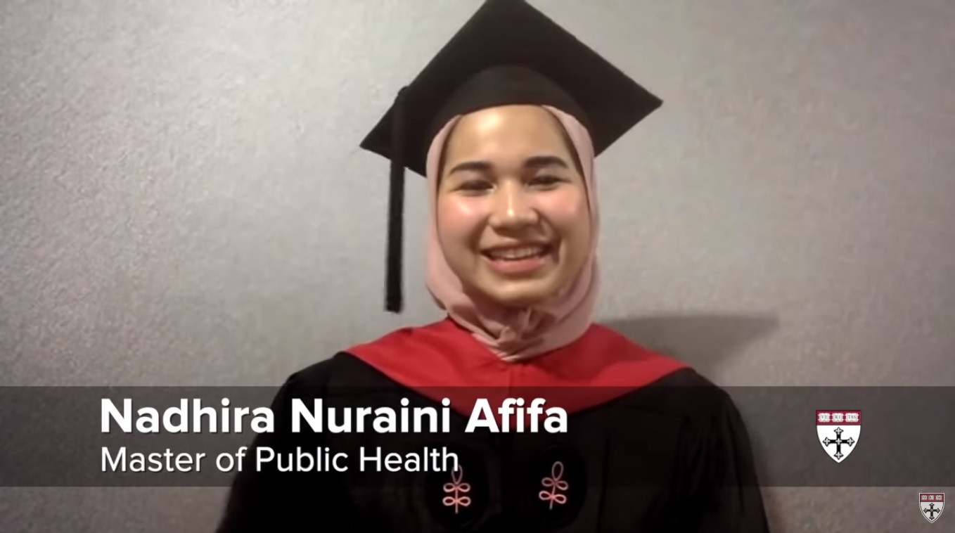 'Don't be afraid to dream': Indonesian student gives Harvard commencement speech