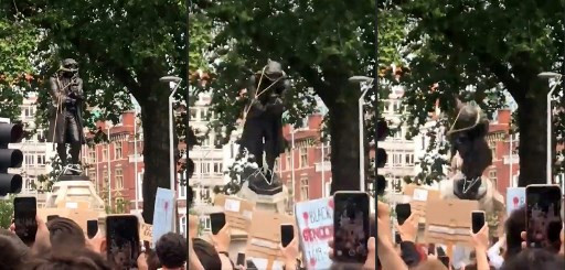UK slave trader's statue toppled in anti-racism protests
