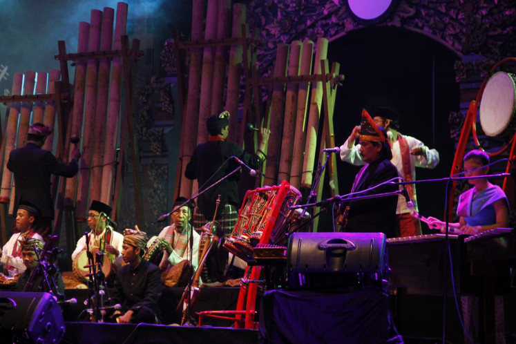 Mixing sounds: INO brings together the variant sounds of Indonesia's traditional instruments.