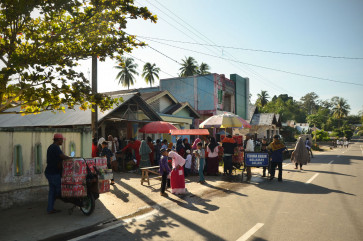 For many in Pariaman, life goes on as usual