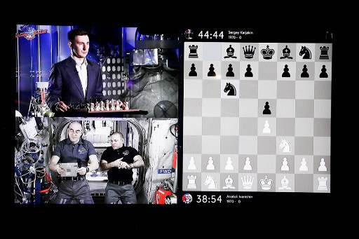 From space, Russian cosmonauts fight chess grandmaster to a draw