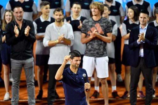 Djokovic breaks down in tears at his Belgrade event