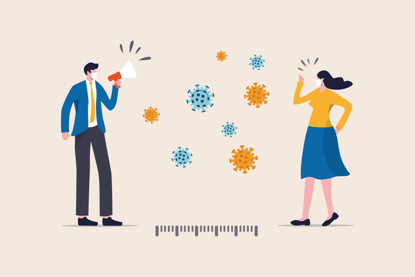 One meter or two? The science behind social distancing