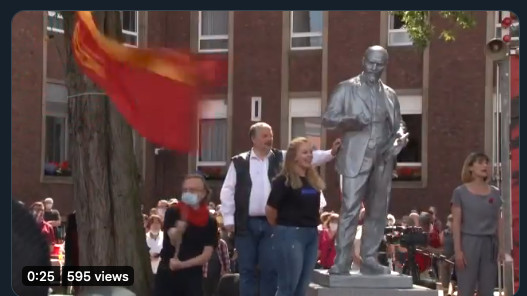 Lenin statue unveiled in western Germany after legal battle