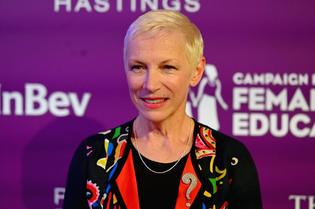 Annie Lennox launches online auction to support women affected by coronavirus