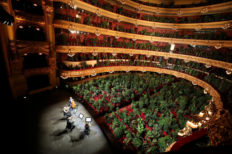 Serenading plants: Barcelona opera reopens with unusual concert