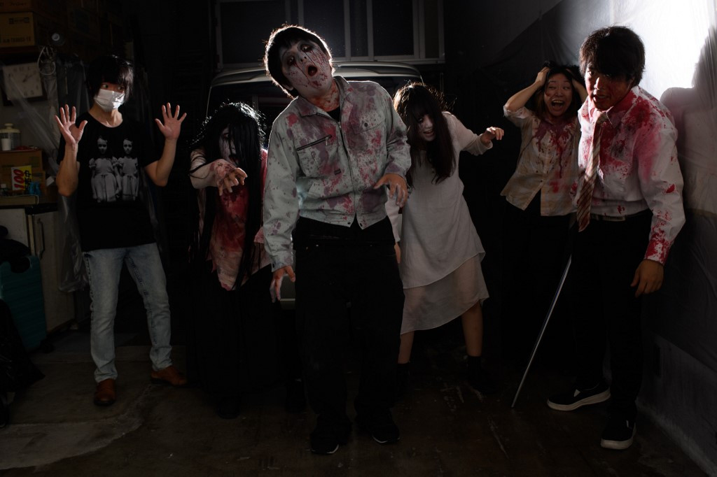 Don't open the door!: Japan haunted house goes drive-in
