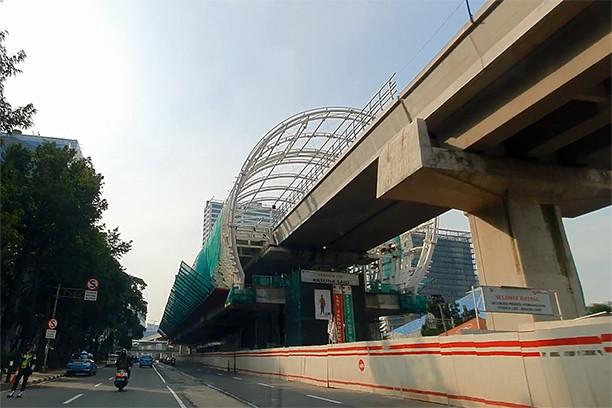 Planned LRT Jakarta route change meets resistance