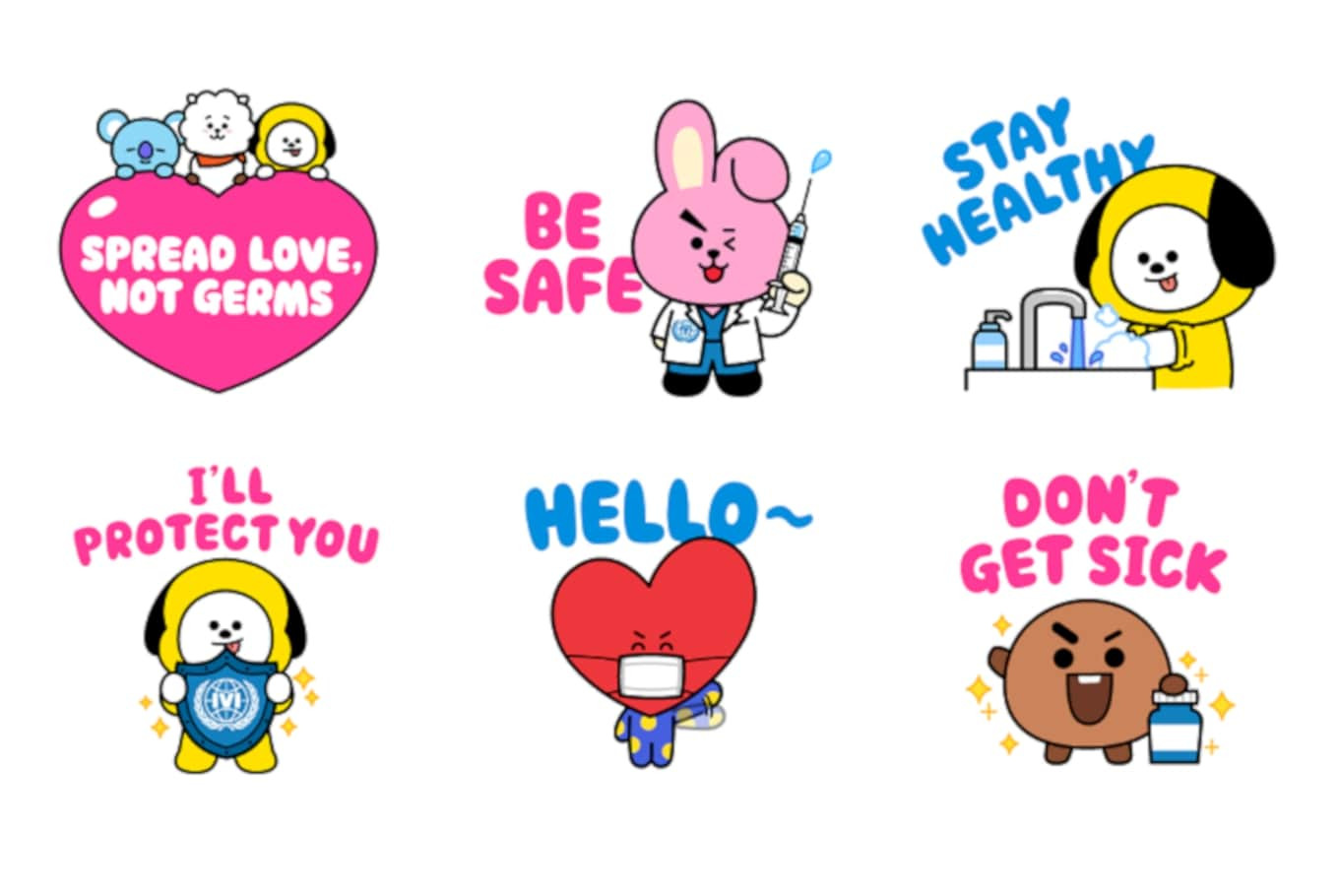 LINE launches new BT21 stickers to support vaccination initiative