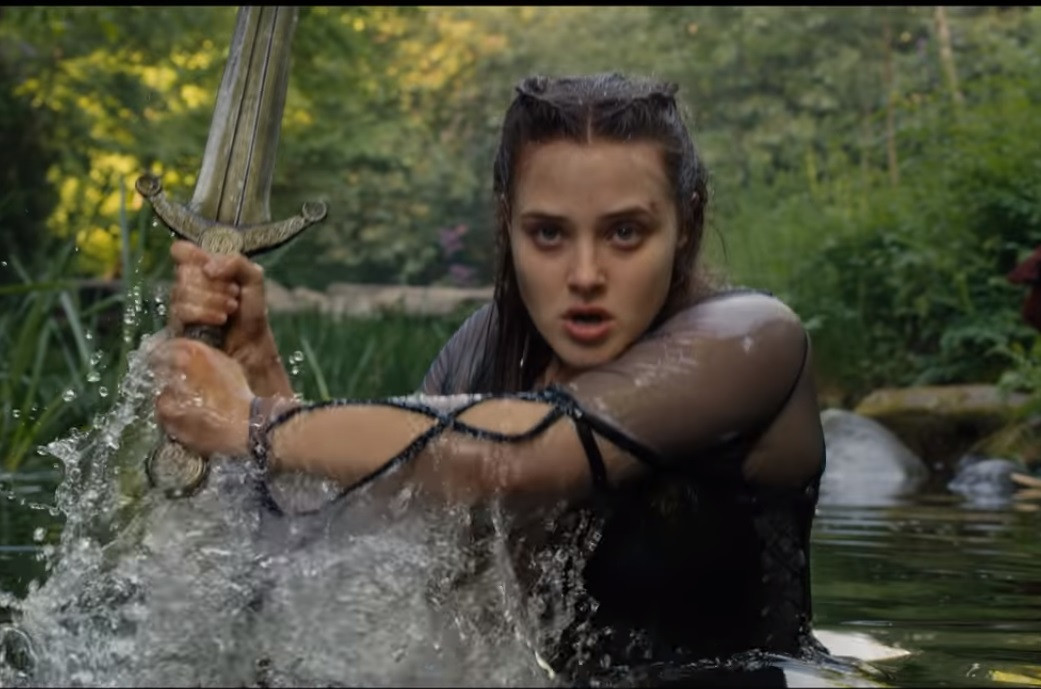The young legend of Katherine Langford in 'Cursed'
