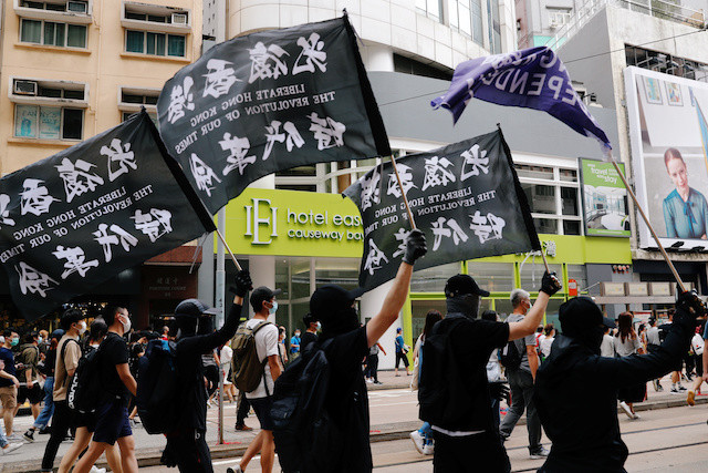 'Liberate Hong Kong, revolution of our times' slogan is illegal, government says