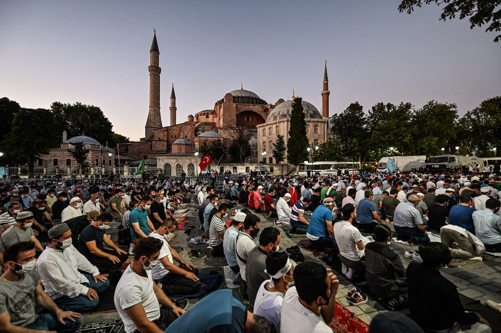 Turkey turns Hagia Sophia back into a mosque