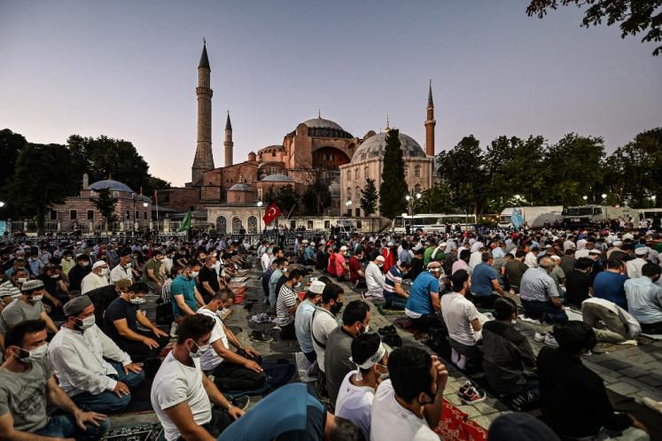 Turkey will cover Hagia Sophia mosaics during prayers: Ruling party spokesman