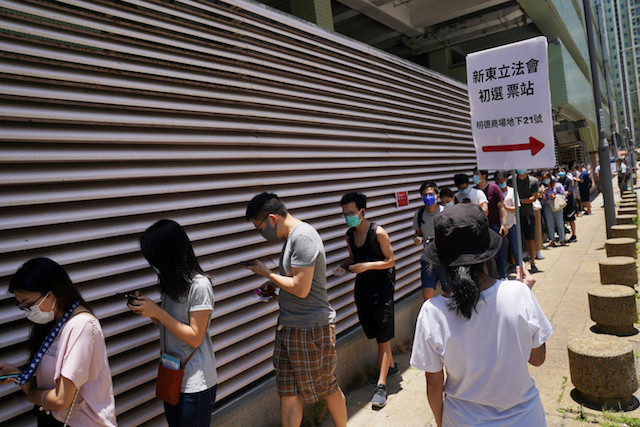 Over 600,000 Hong Kongers cast 'protest' vote against new security laws
