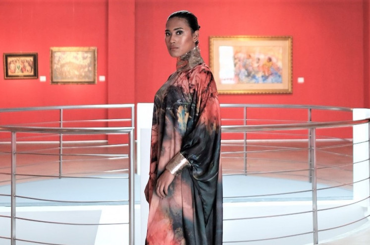 Wearable art: Swapping catwalks for fashion films, Fashi(ON)Line enables designers to fully integrate the mood with their designs, such as Untaian Asa's bold look shown inside an art gallery.