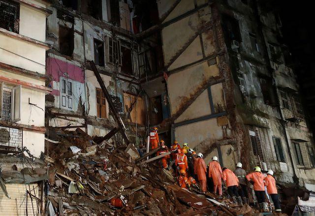 Buildings collapse in heavy rain in India's Mumbai, killing eight