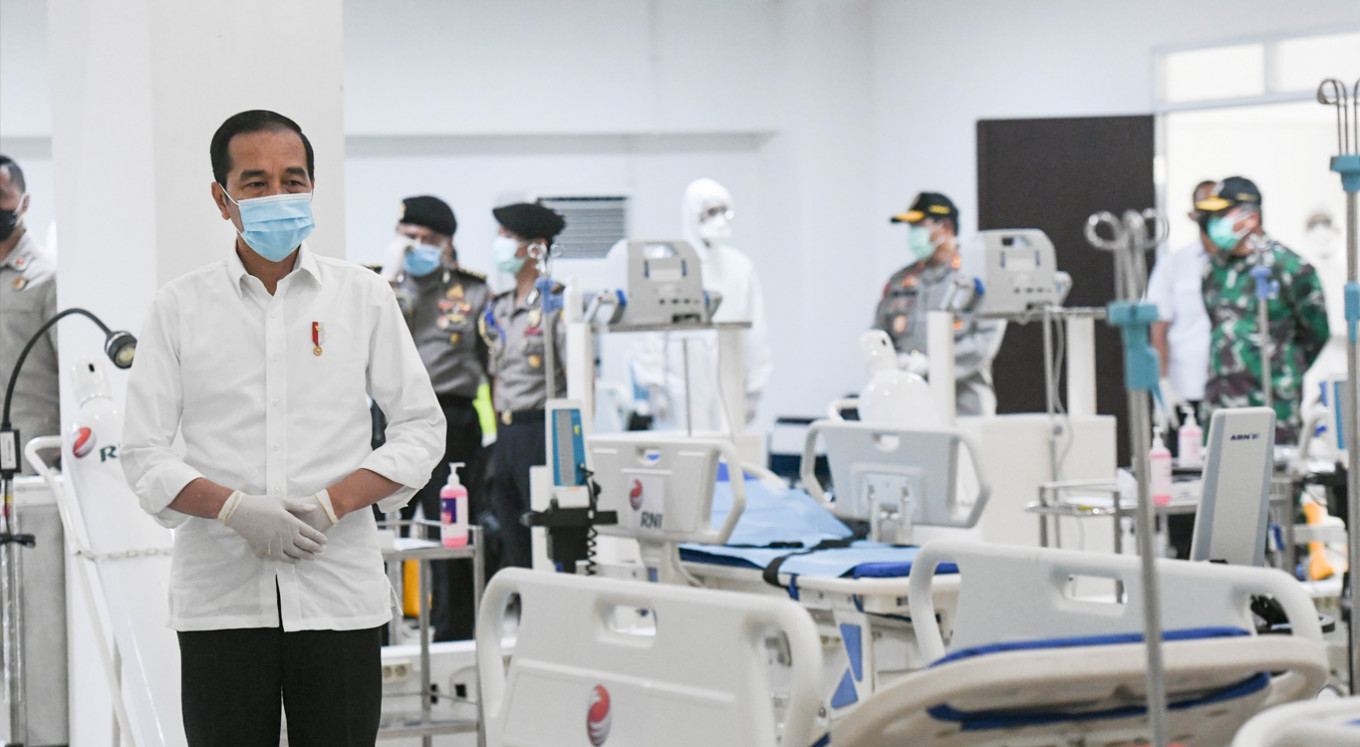 Jokowi demands standardized COVID-19 treatment as cases surge