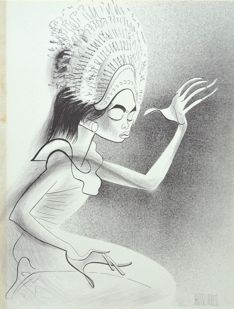 Lot 806 'Balinese Djanger' (1941) by Al Hirschfeld, lithograph, 30 x 23 cm