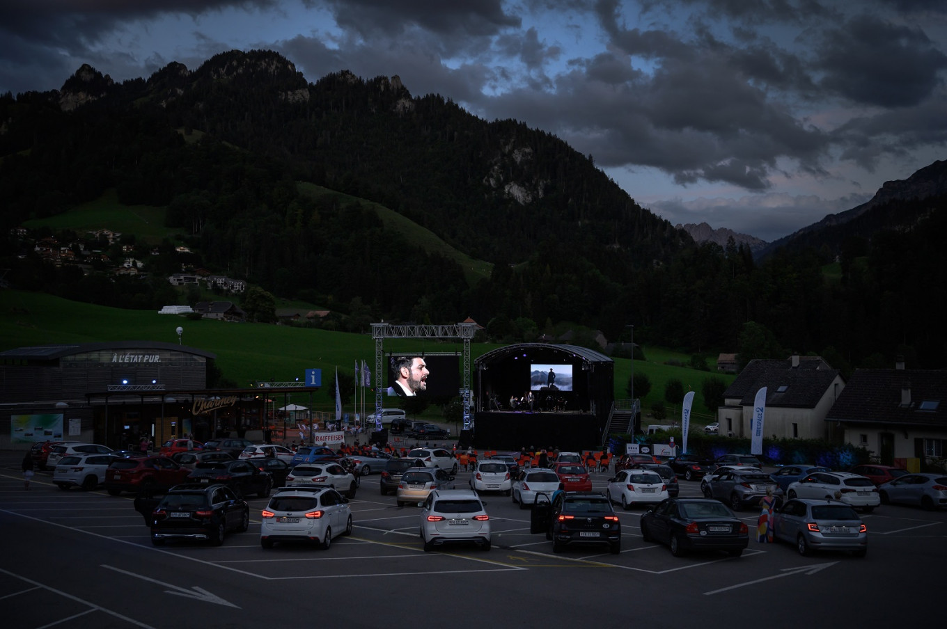 Swiss Alps alive with sound of music at drive-in festival