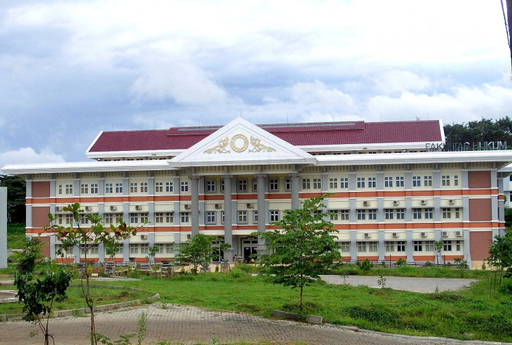 Diponegoro University's (Undip) law school in Semarang, Central Java