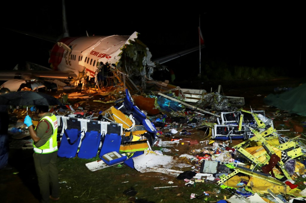 At least 16 dead after plane overshoots runway, falls into valley in Kerala