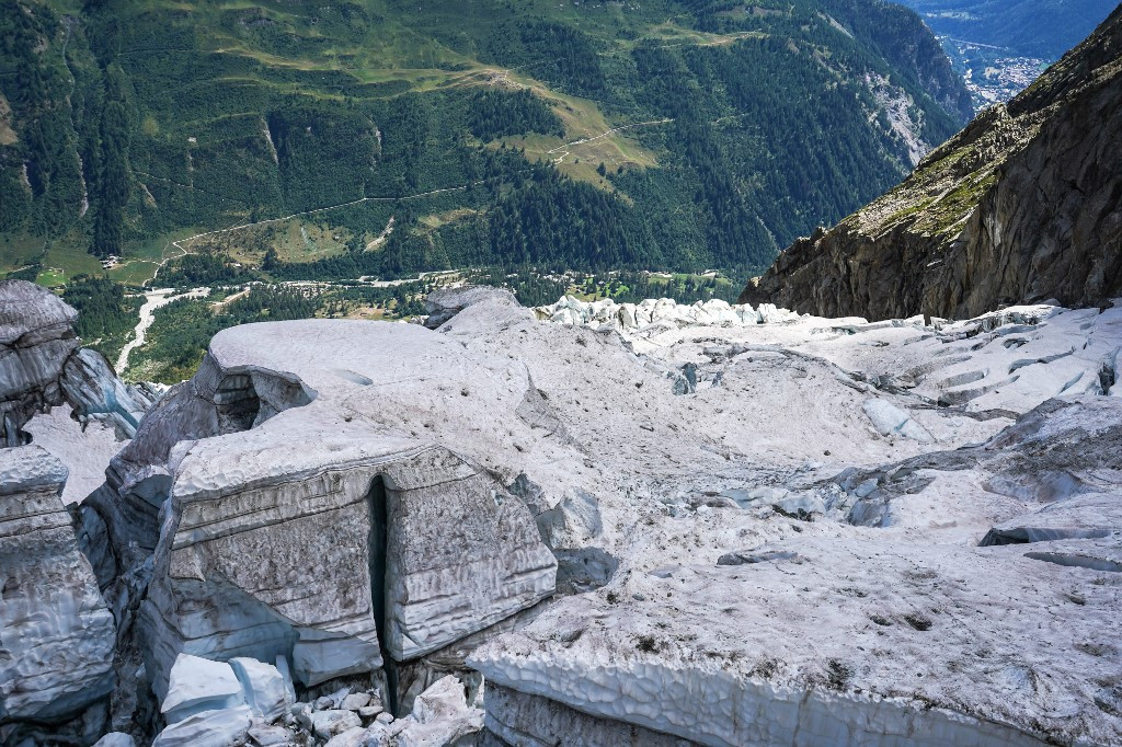 Italian valley still in 'red zone' as Mont Blanc glacier threatens collapse