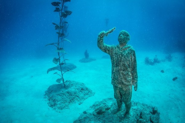 Australian underwater art museum opens at Great Barrier Reef