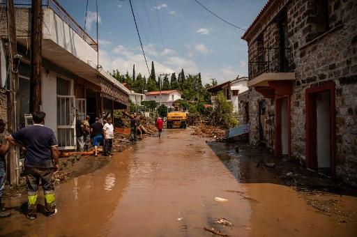 Seven dead as floods hit Greek island