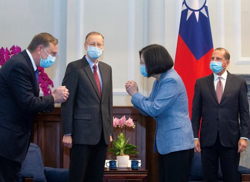 China sends fighter jets as US health chief visits Taiwan